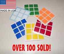 😀 3x3 Rubik's Cube Replacement Stickers decal Dayan Zhanchi speed Guhong rubiks