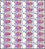 Zero Euro Notes Full Set Of 32 Teams Of FIFA Russia World Cup Matching Serial