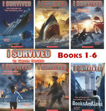 I Survived 1-6 Titanic,Katrina,Pearl Harbor+ by Lauren Tarshis (6-Paperback Set)