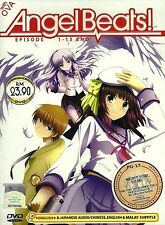 DVD Angel Beats Complete Anime 13 Episodes + OVA English Dubbed Region All
