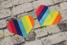 Heart rainbow LGBT Nipple Cover Pasties satin 2 pairs