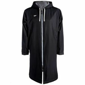 Speedo Unisex Swimming Deck Coat - Black - Swimming Parka