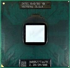 CPU Intel Dual Core DUO Mobile T6670 2.20/2M/800 SLGLK processore 800mhz 478