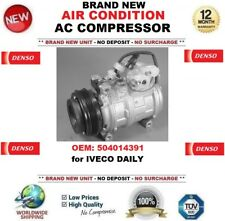 DENSO AIR CONDITION AC COMPRESSOR OEM: 504014391 for IVECO DAILY BRAND NEW UNIT