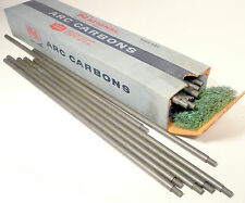 """CARBON ARC RODS for THREATRICAL USE - 1 BOX of  10mm x 17+"""" NATIONAL POSITIVES"""