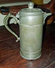 Art Nouveau Antique Pot, Tea Coffee Beer ? EPBM worn to base Pewter Vintage