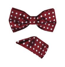 Men's Polka Dot  Bow Tie + Handkerchief Ready-wear Hand Made 7 Colors Style BT1