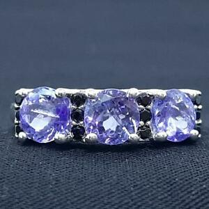 World Class 1.95ctw Tanzanite & Black Spinel 925 Sterling Silver Ring Size 7