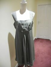 H&M size 14 fully lined grey dress square neckline with wide shoulder straps