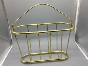 Vintage Brass Rounded Curved Magazine Rack