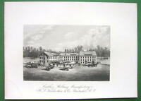 PAWTUCKET RI Leather Belting Co Plant - SCARCE Antique Print Engraving