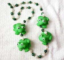 Mardi Gras Beads Green Frog Strand New Orleans Parade Throw Fun!