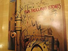 ROLLING STONES SIGNED ALBUM BY 4 COA + PROOF! KEITH RICHARDS CHARLIE WATTS WYMAN
