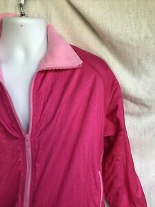 Pink Northwest Passages Fleece Lined Windbreaker Jacket XL Very Warm