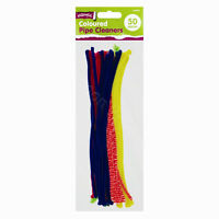 "50 x 12"" Assorted Colour Pipe Cleaners Art Craft Children Kids Play Tinsel"