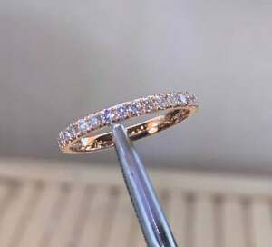 0.50Ct Round Cut VVS1/D Diamond Eternity Engagement Band 14K Rose Gold Finish
