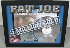 """REAL Original RIAA Fat Joe 2001 PLATINUM RECORD for """"Jealous Ones Still Envy"""""""