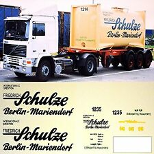 Volvo Schulze Berlin-Mariendorf Allemagne D 1:87 camion autocollant Décalcomanie