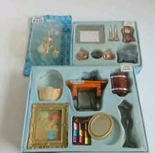 HICKLETON INTERIORS DOLLS HOUSE MINIATURES  sewing machine picture mirror clock