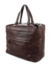 [w/ Dust Bag] Balenciaga Grained Leather Tote Bag Silver Hardware Brown Vintage