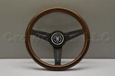Nardi Classic Wood Steering Wheel - 340mm - Black Spokes - Part # 5061.34.2000