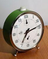 vintage alarm clock - Mechanischer Wecker Praxis Uhr made in W.Germany  ~ 70er
