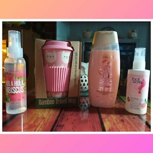 Adults Cookie The Cat Bamboo Travel Mug With Avon Gift Set