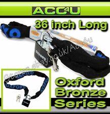"""Oxford 900 mm 36"""" Bicicletta Ciclo Mountain Bike Sicurezza Security Chain Lucchetto"""