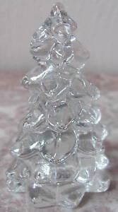 """Christmas Holiday Tree - Mosser USA - Crystal Glass - Small 2 3/4"""""""