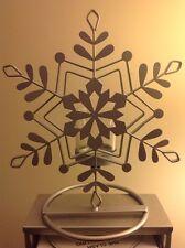 Yankee Candle Christmas Dreams Crackle SNOWFLAKE Votive/Sampler Holder