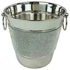 Luxury Stainless Steel Jewelled Diamante Champagne Party Drink Cooler Ice Bucket
