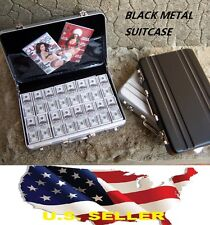 "1/6 black Metal Suitcase gun Cash Box for 12"" Barbie Hot toys Phicen Kumik USA"