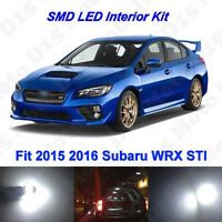 8x Ultra White LED Light Interior Package Kit for 2004-2016 2017 Subaru WRX STI