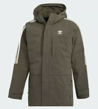 NEW Sz XL Mens Adidas Originals Duck Filled Down Parka Brown/White DH5027 $300