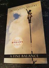 A fine Balance Rohinton Mistry Paperback 1997 Oprahs Book Club Novel Drama