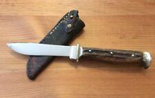 Altes Jagdmesser Puma Solingen Scheide Hand made Knife Germany