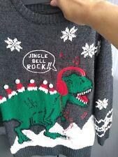 George @ Asda Dinosaur Christmas Jumper Age 6-7