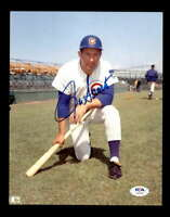 Ron Santo PSA DNA Cert Hand Signed 8x10 Cubs Photo Autograph