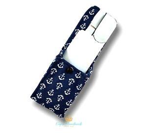Porta iqos borsello pochette Ancore blu   Artigianale A++