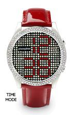 Phosphor Appear Swarovski Red Crystals Mechanical Digital Watch MD002L