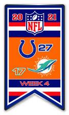 2021 Semaine 4 Bannière Broche NFL Indianapolis Vs. Miami Dolphins Super Bol