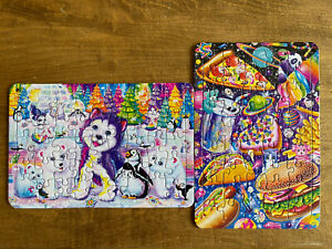 """Lisa Frank Lot of 2 Frame Tray Puzzles 5x8"""""""