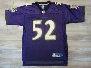 Ray Lewis #52 Baltimore Ravens NFL Reebok Jersey Medium M Rookie