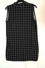 BLACK WHITE CHECK LADIES CASUAL TOP BLOUSE SIZE 12 ATMOSPHERE STRETCH