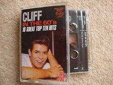 Cliff Richard ~ IN THE 60'S 16 GREAT TOP TEN HITS ~ Cassette Tape 1984