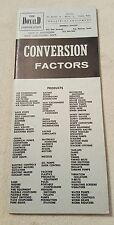 Conversion Factors guide book The Donald Corporation