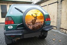HIRSCH 60cm Reifencover AUFKLEBER Reserveradhülle Reifencover Cover Wild Jagd