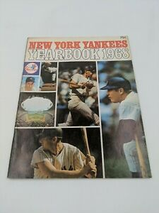 1968 New York Yankees Baseball Yearbook Mickey Mantle