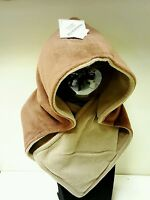 NEW WOMENS LADIES MAN brown FLEECE  reversible SCARF SCARVES SKI HAT ONE SIZE