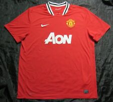 MANCHESTER UNITED Home shirt jersey NIKE 2011-2012 Red Devils /adult SIZE XXL